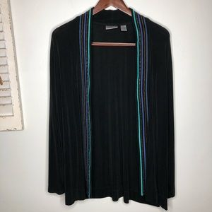 Chico's Travelers Open Front Cardigan XL Slinky